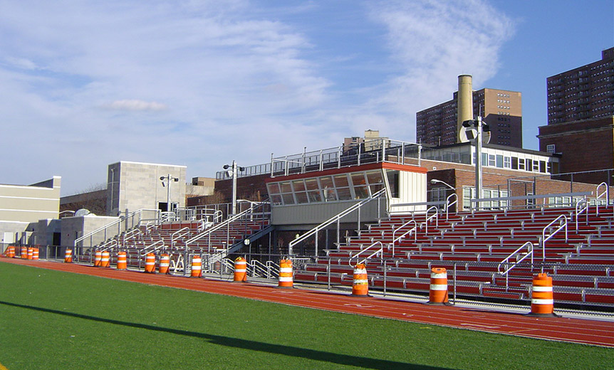 Memorial High School Field Grandstands Mast Construction